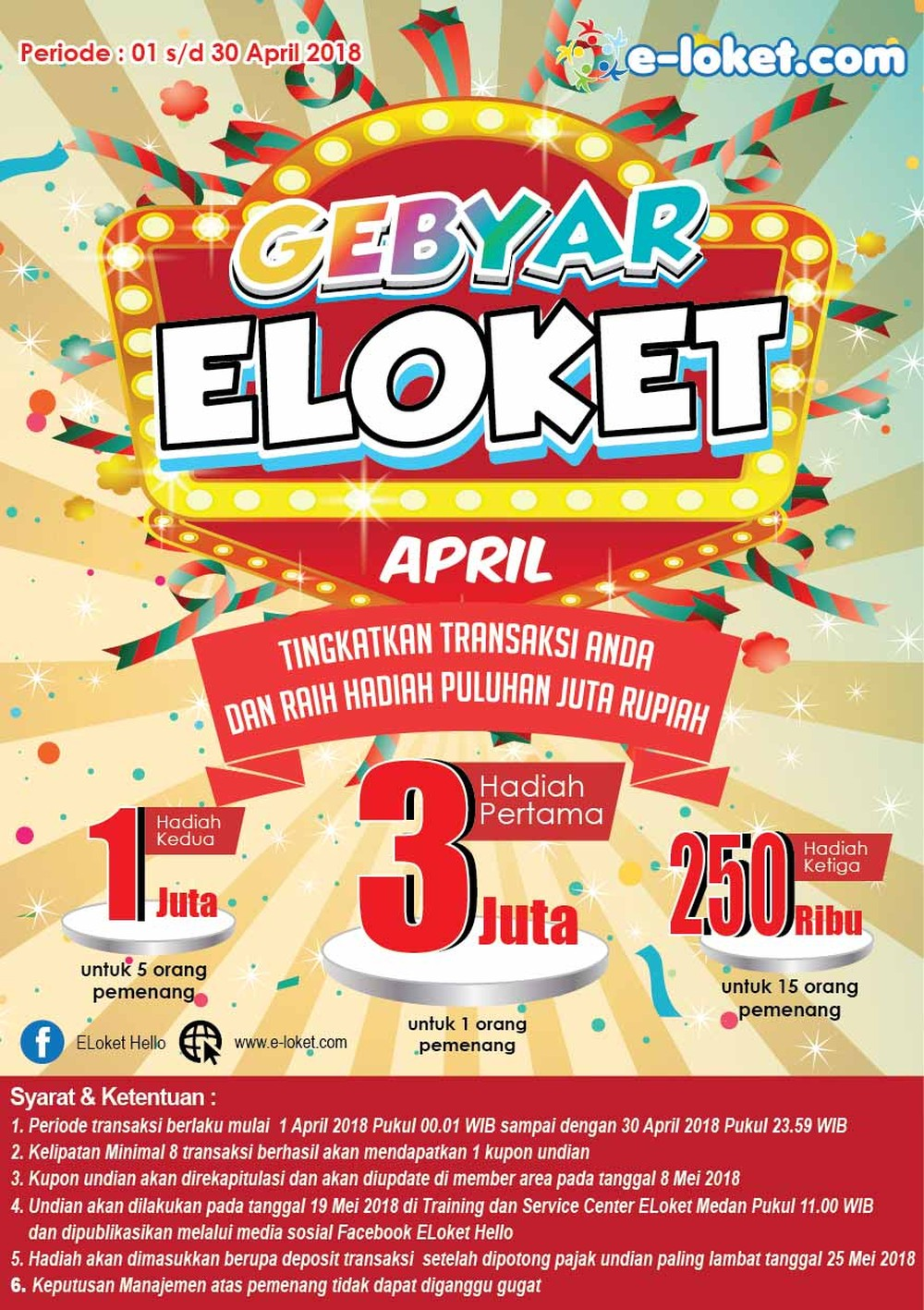 GEBYAR E-Loket April 2018