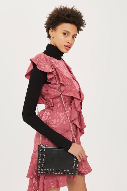 black leather cross body bag similar to Balmain