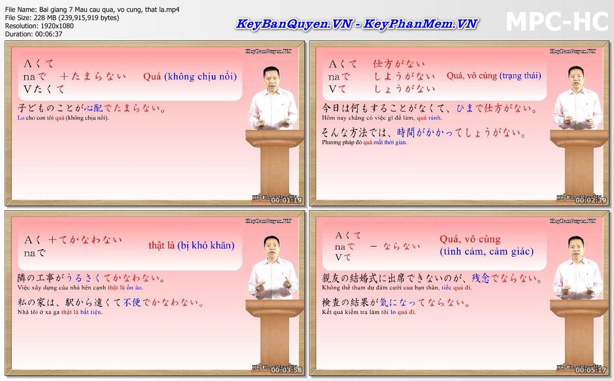 Video Học Tiếng Nhật - Luyện Thi Tiếng Nhật Ngữ Pháp N2 ( Phần 1 ).