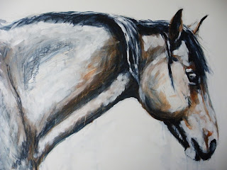 Arab Native pony painting