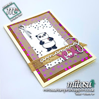 Stampin' Up! Party Pandas SU Sale-A-Bration 2018 Card Idea order  from Mitosu Crafts UK Online Shop
