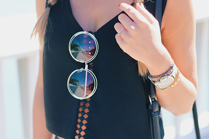 round sunglasses oversized