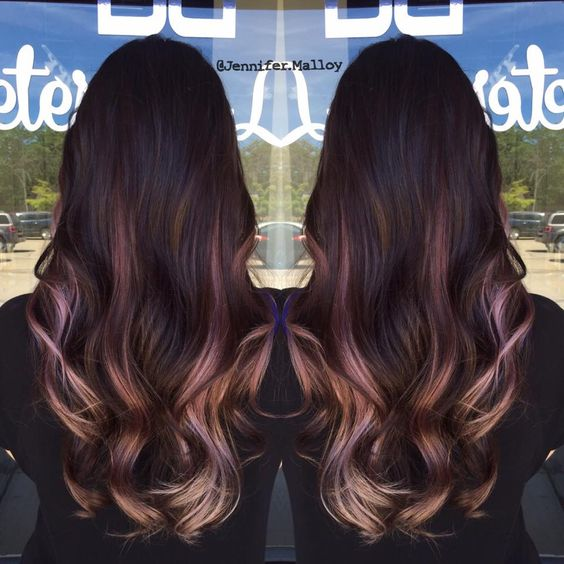 Burgundy Hair Balayage