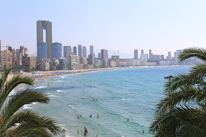 Benidorm - najpiękniejsza plaża w Hiszpanii.