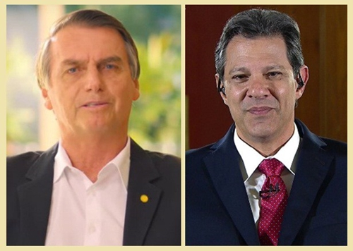 Pesquisa Ibope: Bolsonaro tem 59%; Haddad, 41%