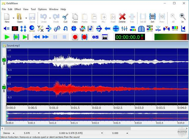 Screenshot GoldWave 6.51 (x64) Full Version