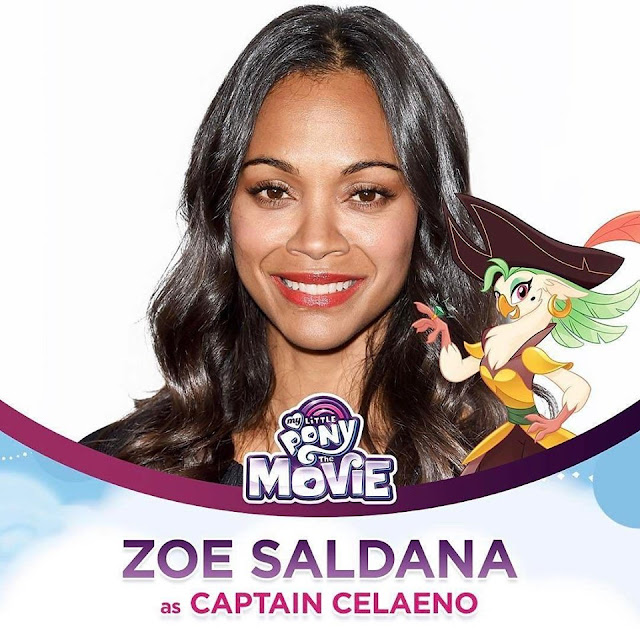 Zoe Saldana as Captain Celaeno The My Little Pony Movie