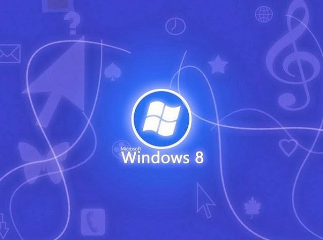 Blue Windows 8 Desktop Background
