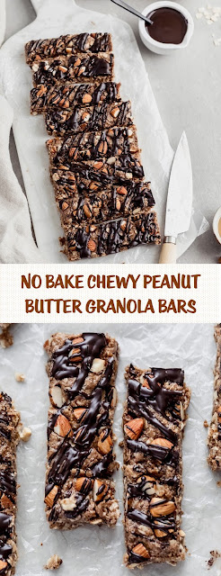 No Bake Chewy Peanut Butter Granola Bars