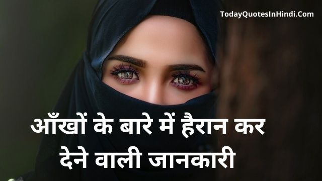 Unknown Facts about Eyes in Hindi