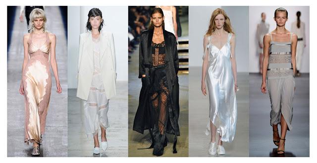 Платье-комбинация на подиумах