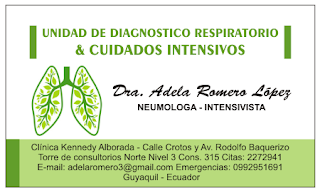 Tarjetas personales para neumólogos