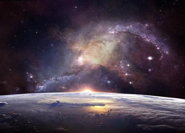 Imagen de la galaxia de noche
