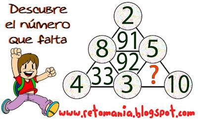 Descubre el número, Qué número falta, ¿Cuál es el número que sigue?, Desafíos matemáticos, Problemas matemáticos, Problemas de lógica, Encuentra el número que falta