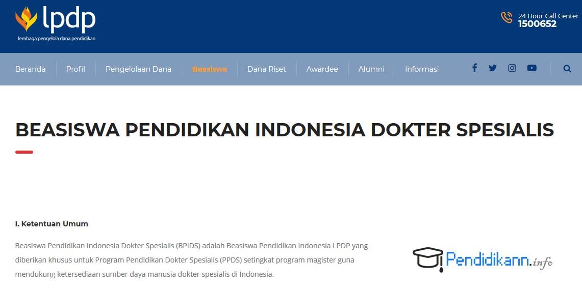 Beasiswa Pendidikan Dokter Spesialis LPDP