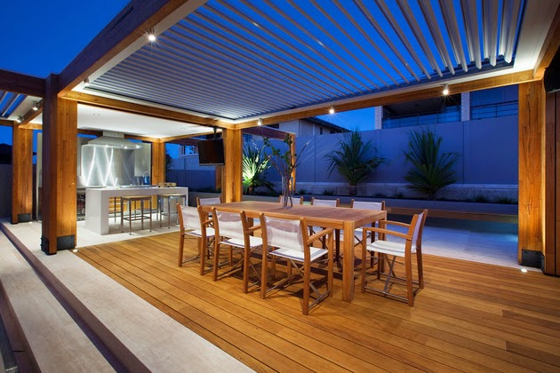 Charming Open Floor Terrace Design With A Touch Of Natural ... on Open Backyard Ideas id=11729