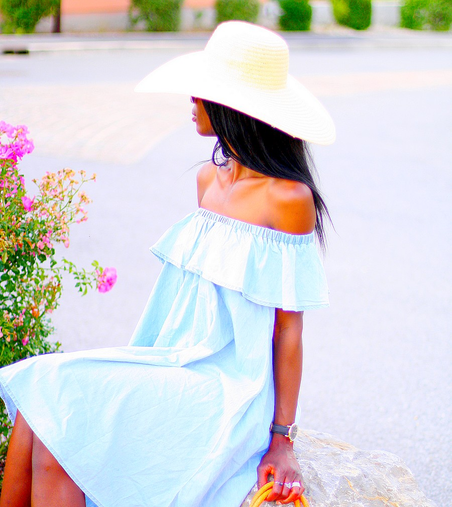 off-shoulder-denim-dress-blog-mode