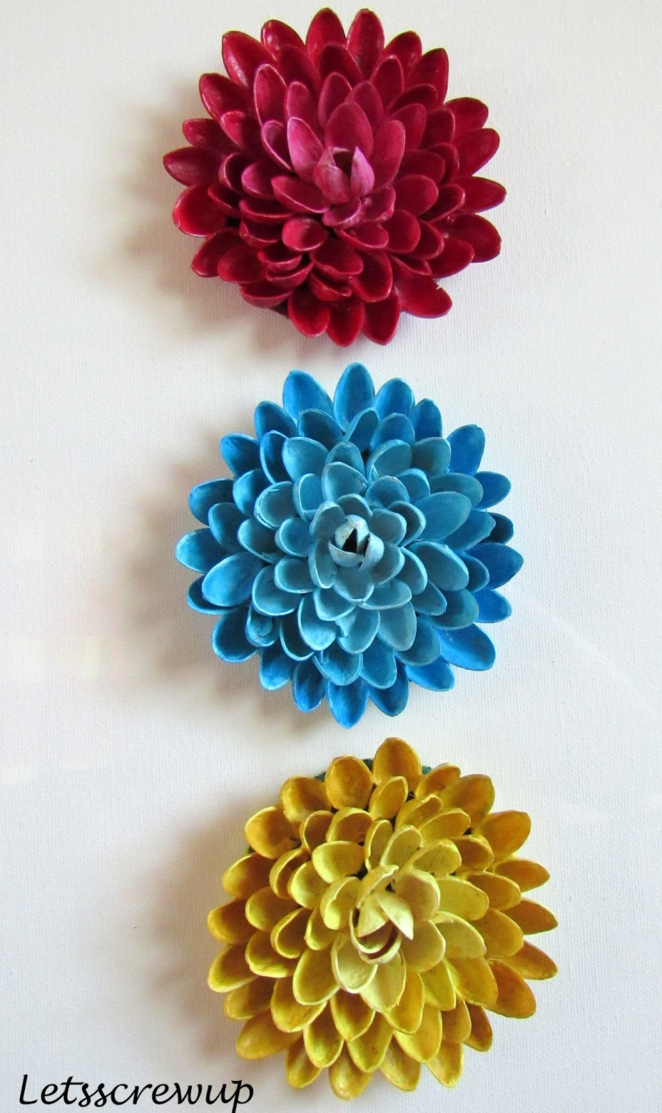 Diy Pista Shell Flower Wall Hanging Lets Screwup