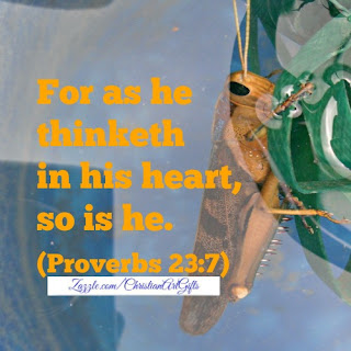 For as he thinketh in his heart, so is he. Proverbs 23:7