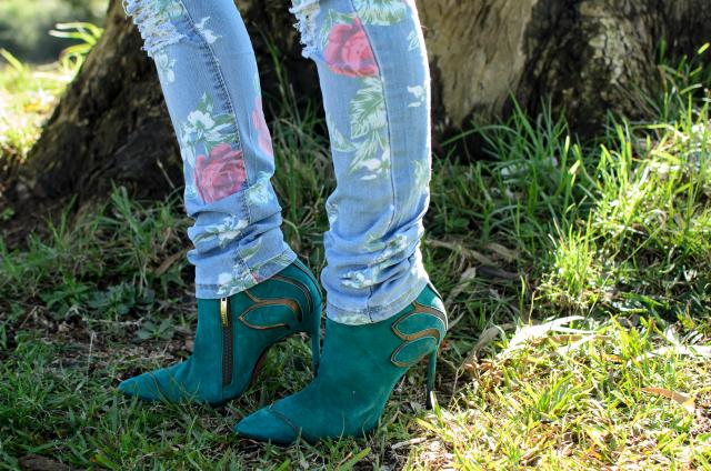Skinny jeans floral