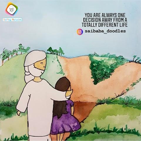 A Decision - Sai Baba Doodle Art Showcase