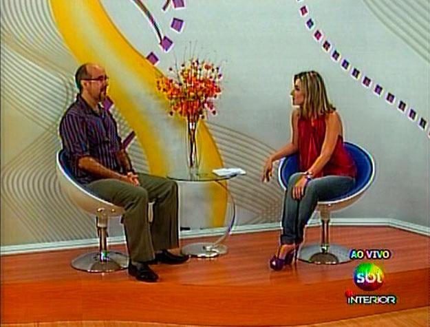 Entrevista sobre redes sociais no SBT Interior