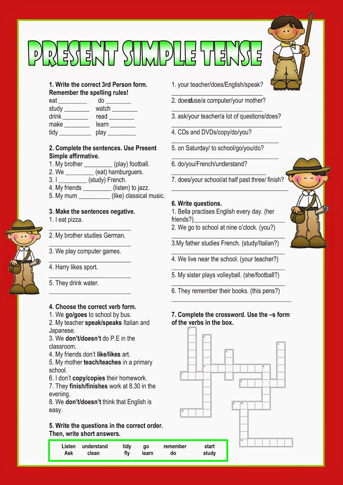 Workbooks using illustrations to understand text worksheets : Give Me English!: TASK 2 - Set of Worksheets for A2 Students