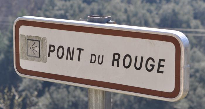 panneau du pont du rouge