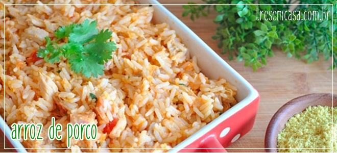 receita arroz de porco