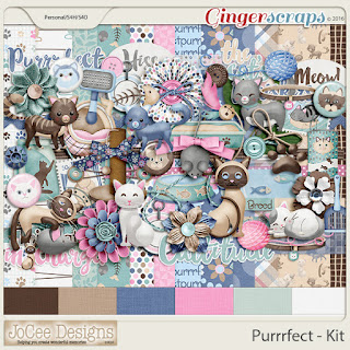 Ginger Scraps January Template Challenge #1   and Freebie and Purrrfect, JoCee Designs