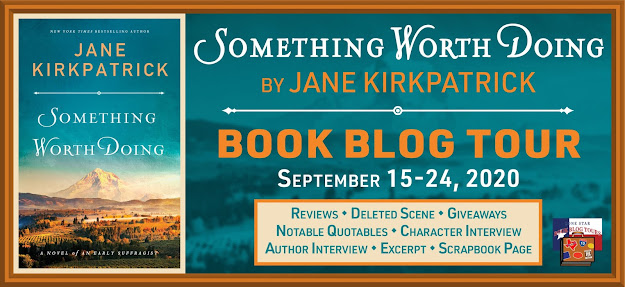Something Worth Doing book blog tour promotion banner