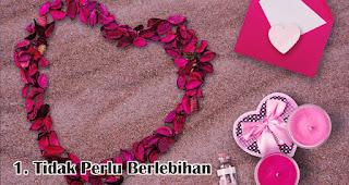 Tidak Perlu Berlebihan merupakan salah satu trik hemat untuk rayakan valentine