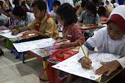"""Ratusan Anak TK dan SD Se-Kota Makassar Ikuti Lomba Mewarnai,""""Garuda di Lautku"""""""