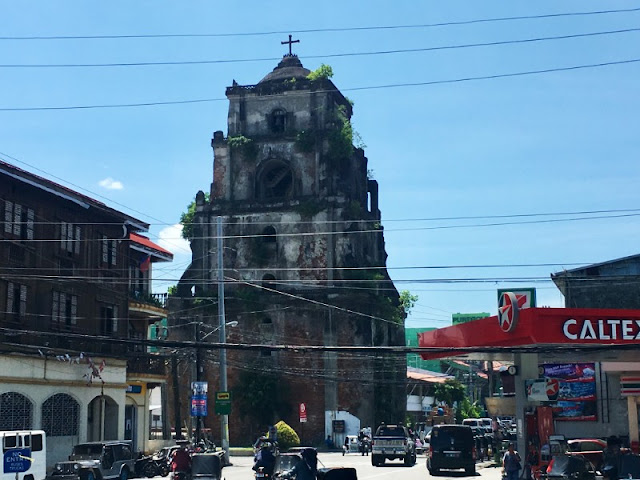 Sinking Bell Tower. This Sinking Bell Tower is situated at the busy streets in Laoag Ilocos Norte