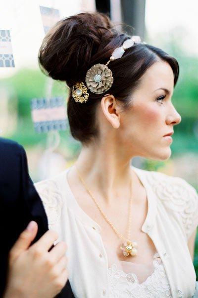 peinados de novia con bucles