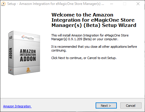 magento amazon setup wizard
