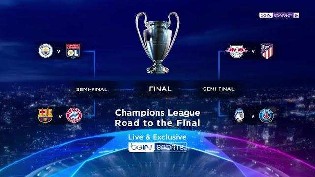 جدول مباريات الدور ربع النهائي من بطولة دوري أبطال أوروبا 2019-2020