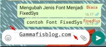 Mengubah Jenis Font WhatsApp Menjadi FixedSys