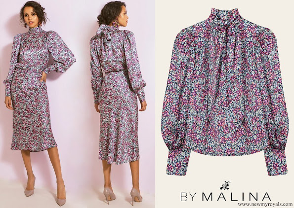 Princess Sofia wore By Malina Penny blouse and skirt wild-blossom
