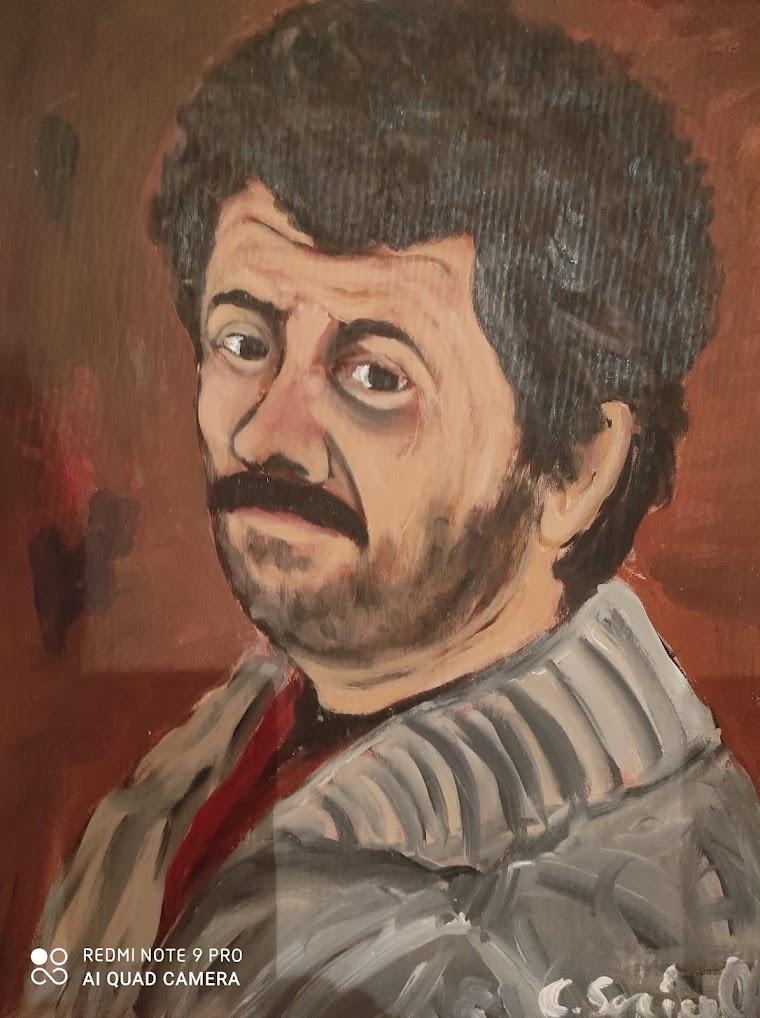 Autoritratto giovanile di Carlo Soricelli
