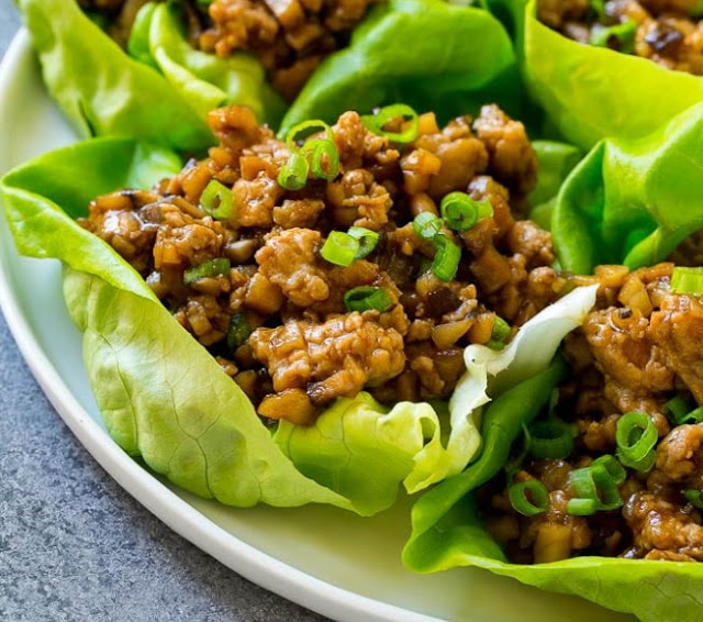 Chicken Lettuce Wraps Meal Prep #healthy #lunch