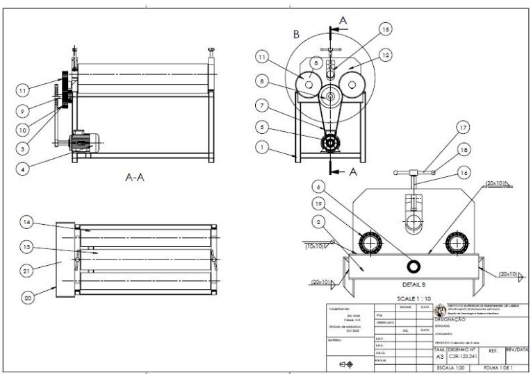 3D Model & Drawing | Bending rolling machine | 3D Model CAD