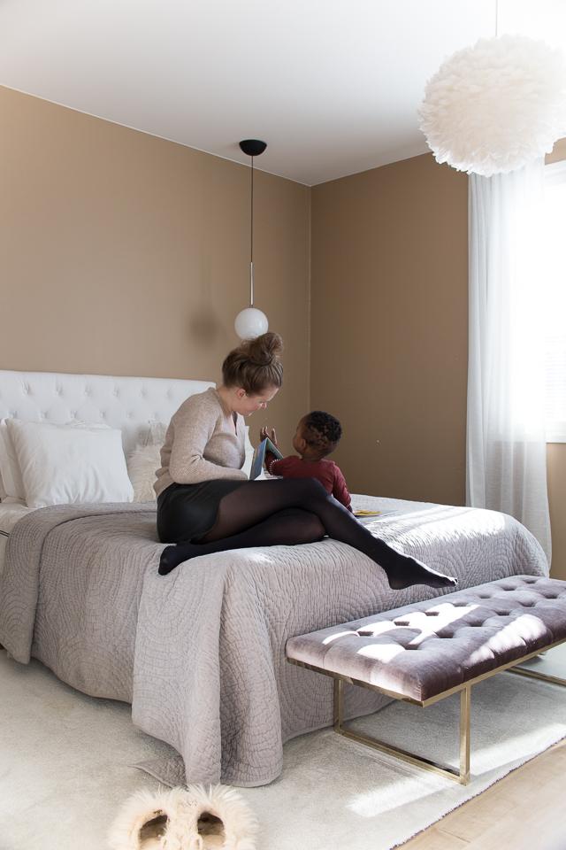 Villa H, makuuhuoneen sisustus, oma tyyli, lastenvaatteet