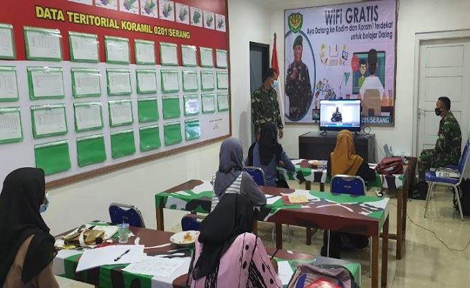 Koramil 0201/Serang Sediakan Fasilitas Belajar Secara Daring dan Virtual bagi Siswa-Siswi