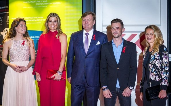 Queen Maxima wore Valentino redr Jumpsuit. Queen Máxima and Princess Mabel at Ellen ten Damme, Jim van der Zee and Ricciotti Ensemble concert