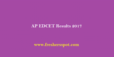AP EDCET Results 2017 Ranks