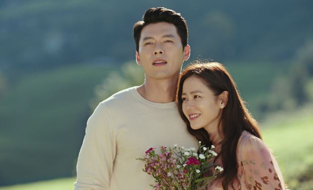 "Hyun Bin and Son Ye Jin in the widely popular ""Crash Landing on You"""