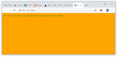 menggunakna bgcolor untuk mengubah warna latar belakang laman web