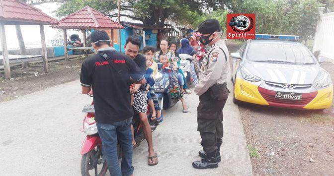 Kawasan Tanggul Wisata Pantai Topejawa, Tak Luput Dari Sasaran Patroli Polisi