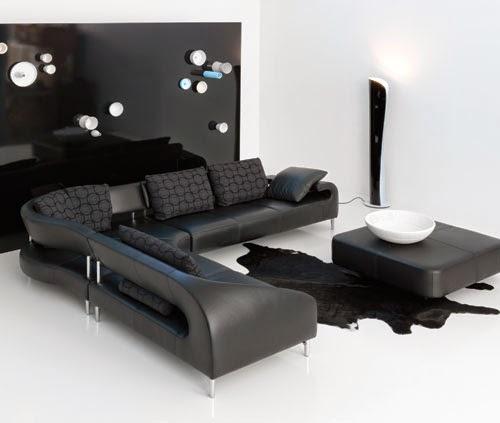 sala en negro y blanco